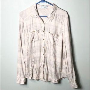 Maurices button down shirt size Xlarge plaid Euc